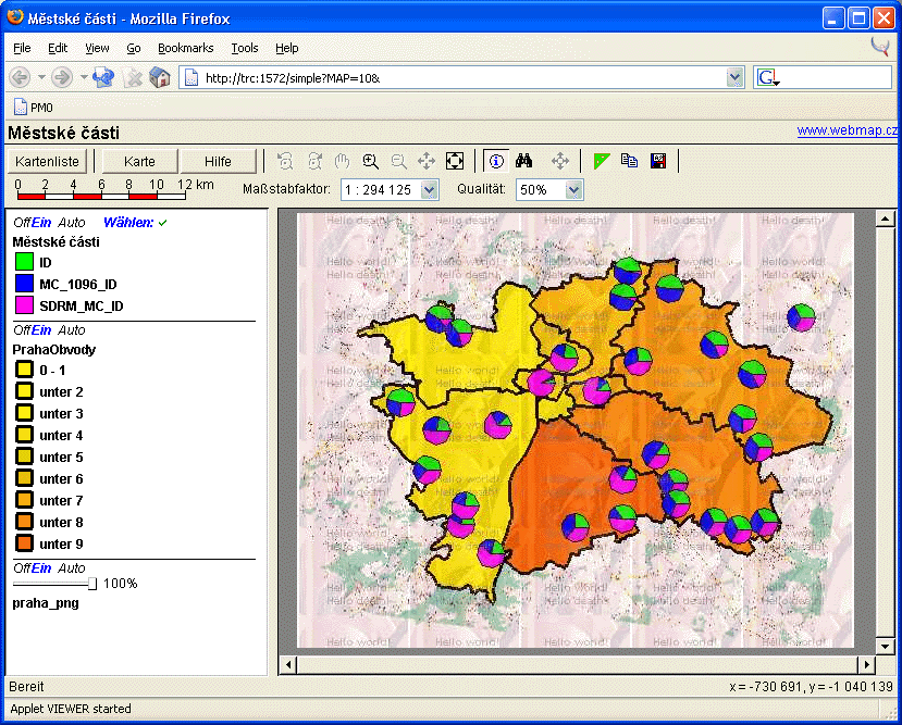 After Composing The Presentation You Can Use The Map Server To Present Your Data Over The Internet