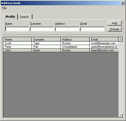Demos AddressBook Ultimate – Address Book Example